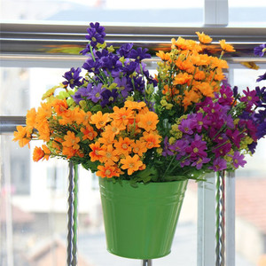 Image 5 - Flower Pots Outdoor Metal Iron Hanging Balcony Planter 6 Pcs Different Colourf succulent can decorative garden