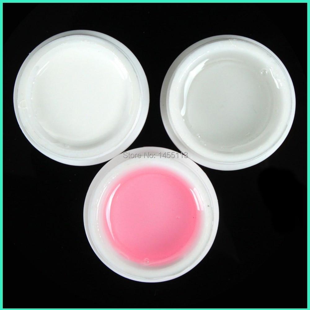 3 spalvos UV gelio statybininkas Išvalyti rausvą baltą skaidrų - Nagų menas - Nuotrauka 1
