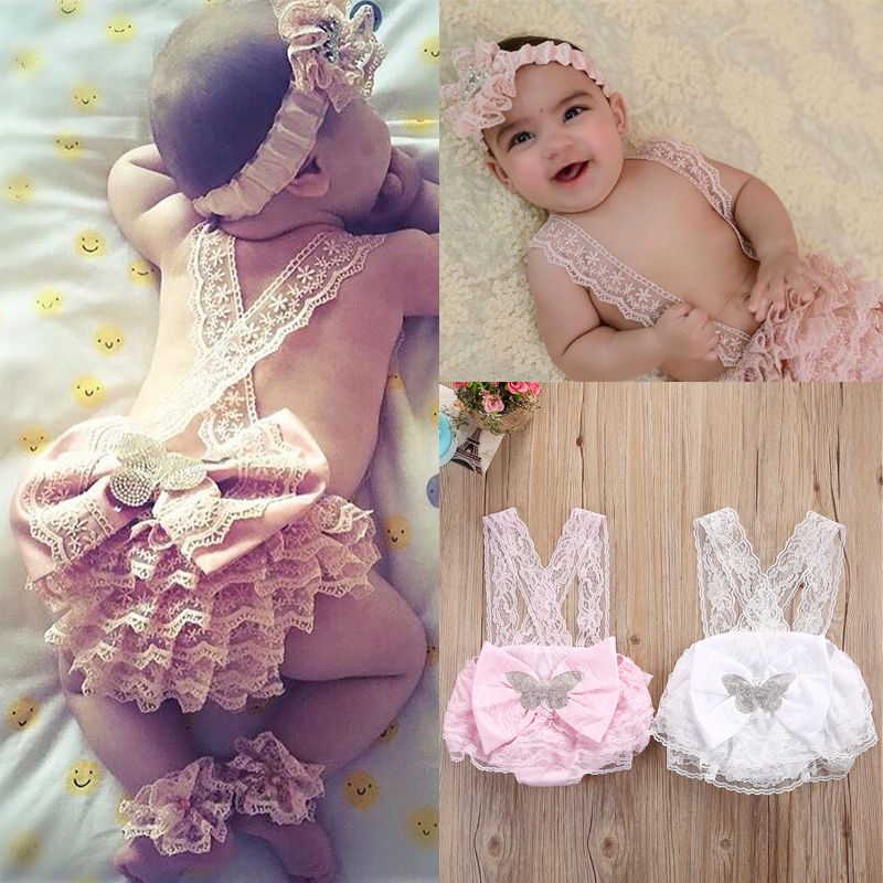 Newborn Infant Baby Girls Clothing Lace Floral Bowknot Romper Ruffles Cute Jumpsuit Clothes Outfits Costume cute baby girl ruffles romper newborn children hello kitty playsuit clothing infant kids girls cartoon jumpsuit clothes with hat