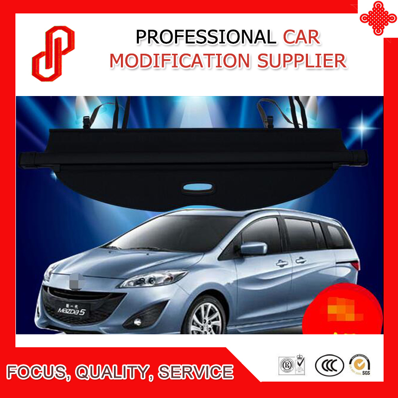 Black Beige Rear Trunk Security Shield retractable Cargo cover Tonneau cover for Mazda 5 M
