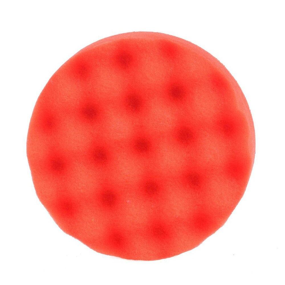 1 шт. Губка для полировки автомобиля губка для полировки Авто полирующая пена прочный набор колес портативный 6 дюймов - Цвет: red