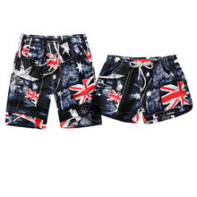 Uk Flag Printed Beach Shorts Men Women Borad Shorts Trunks 2018 Summer Casual Quick Dry Pocket Vacation Hawaiian Couple Shorts(China)