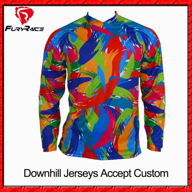 e1e2c0eac Fury wyścig wysokiej jakości Downhill koszulki MTB koszulka na zamówienie  BMX rower Motocross Jersey motocykl DH