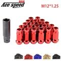 Ace скорости Muteki SR48 Расширенный Открытого Состава Колеса Тюнера Гайки M12x1.25mm Для Nissan, Suzuki и т. д.