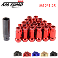 Ace speed- Muteki SR48 Extended Open Ended Wheel Tuner Lug Nuts M12x1.25mm For Nissan,For Suzuki etc