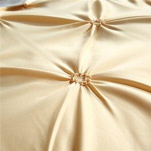 Image 5 - LOVINSUNSHINE Luxo Cama Capa de Edredão Rainha Conjunto de Cama Colcha Cobre Roupa de Cama De Linho De Seda AN04 #