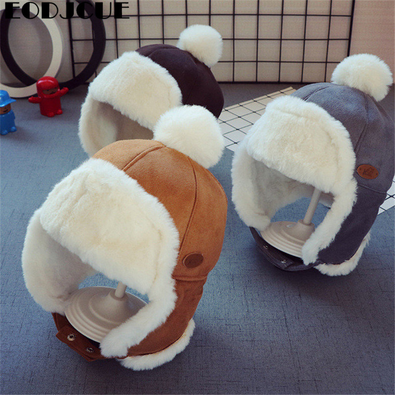 Kids   Beanies   Winter Baby Child Knitted Hat Kids Girls Russian Female Thicker Warm Caps Age For 2-6 Years Old Ushanka Hat 2019