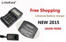 L iitokala lii-500จอแอลซีดี3.7โวลต์/1.2โวลต์AA/AAA 18650/26650/16340/14500/10440/18500เครื่องชาร์จแบตเตอรี่ด้วยหน้าจอ+ 12V2Aอะแดปเตอร์lii500