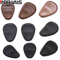 Motorcycle Brown Leather Spring Solo Driver Seat Cushion For Harley For Honda For Yamaha For Kawasaki Bobber Chopper