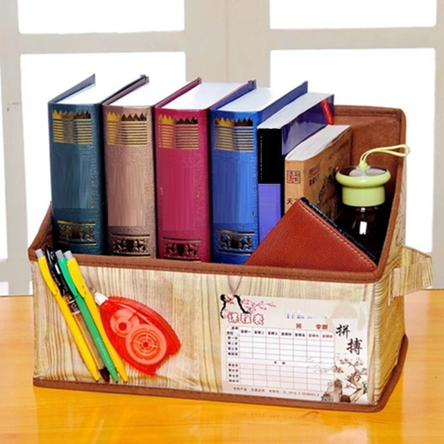 Stupendous Us 10 57 15 Off Magazine Books Office Storage Box Non Woven Curriculum Table Student Textbook Desk Organizer Home Office Waterproof Book Box In Home Interior Design Ideas Clesiryabchikinfo