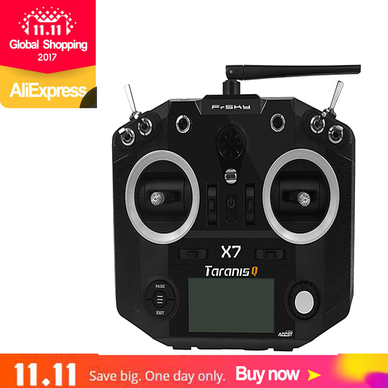 FrSky ACCST Taranis Q X7 Transmitter 2.4GHz 16CH QX7 Transmitter TX No Receiver Remote Control for RC Racer FPV Drone free shipp diy 130mm fpv drone with pdb frame kit upgrade naza32 acro flight control r6dsm frsky fs x6b rfasb receiver for rc racer quad