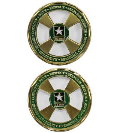 Оптовая Армии США Основные Ценности Вызов Монета горячие продажи индивидуальные металла вызов Монета дешевые обычай круглые монеты