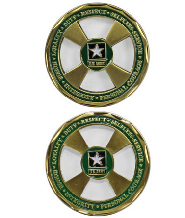 Wholesale U.S. Army Core Values Challenge Coin hot sales customized metal challenge Coin cheap custom round coins