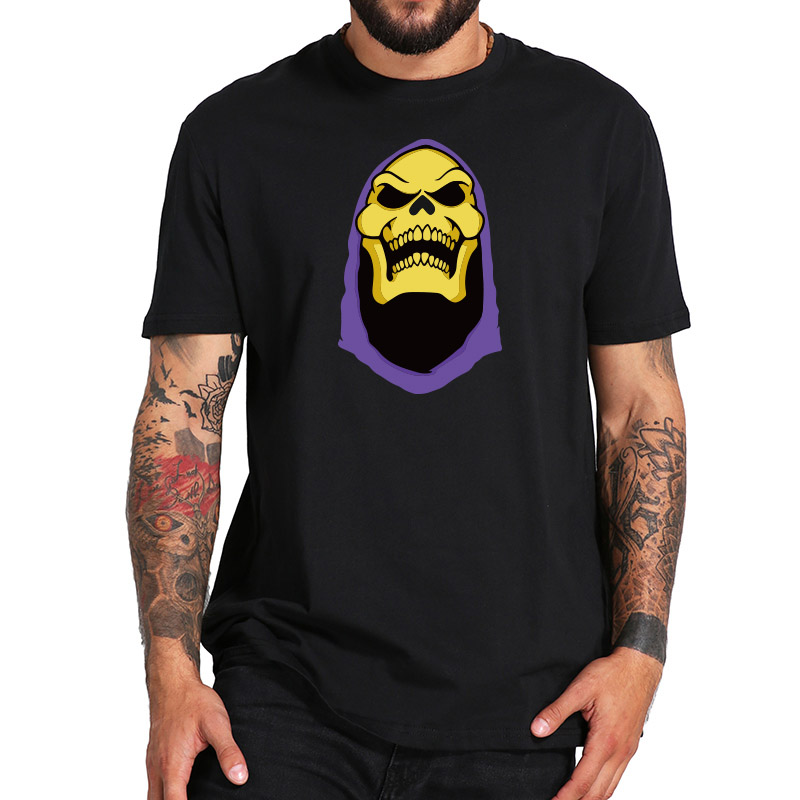 Masters Of The Universe   T  -  Shirt   Skeletor Printed Fantasy Animation TV Series   T     Shirt   EU Size Breathable Short Sleeve Tees