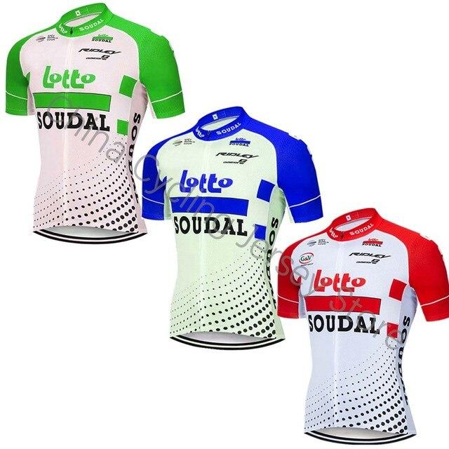 2019 LOTTO MTB Pro camisa da equipe de Corrida de Montanha camisa de ciclismo de verão de manga curta Respirável roupas de ciclismo Ropa ciclismo Maillot B13