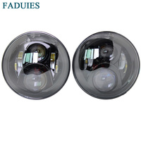 7 Inch Round LED Headlights LED Chips Lamp H4 H13 Projection Headlight Kit For Jeep
