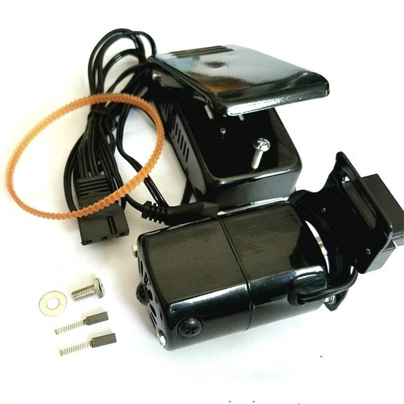 220V Universal Home Sewing Machine Motor 0.5 Amps 100W With Foot Pedal Controller Speed Pedal