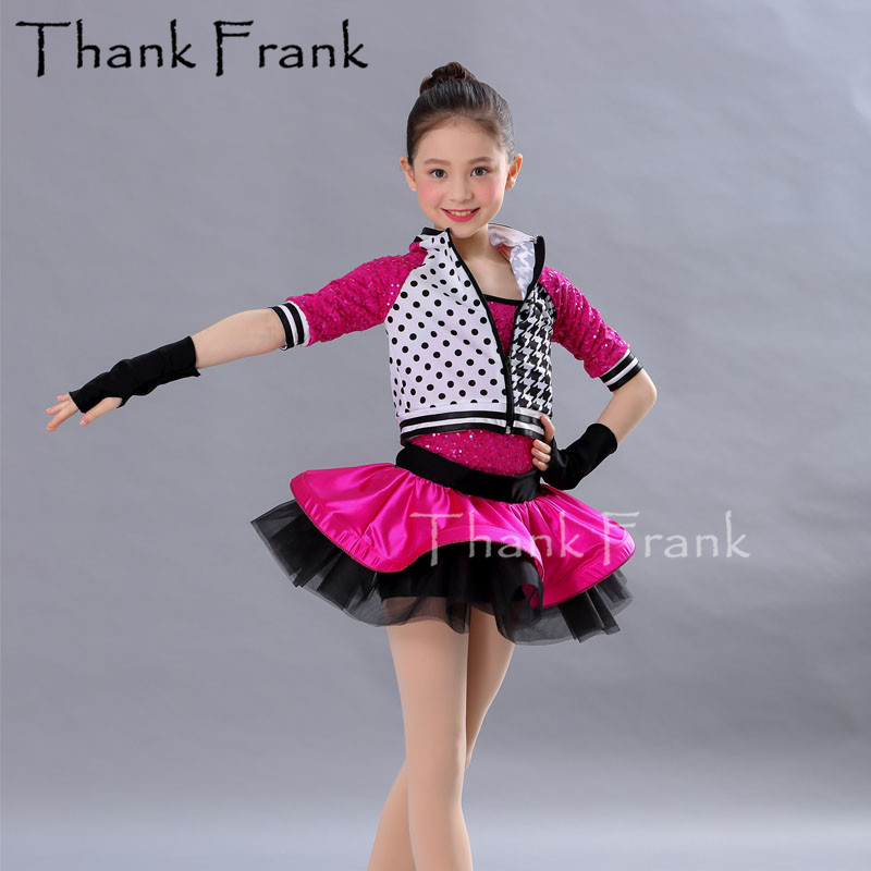 2-Piece Jazz Dance Costumes For Girls Kids Cool Modern Dance Dress Sexy Rave Outfits For Woman Cheerleader Dresses Costumes C542