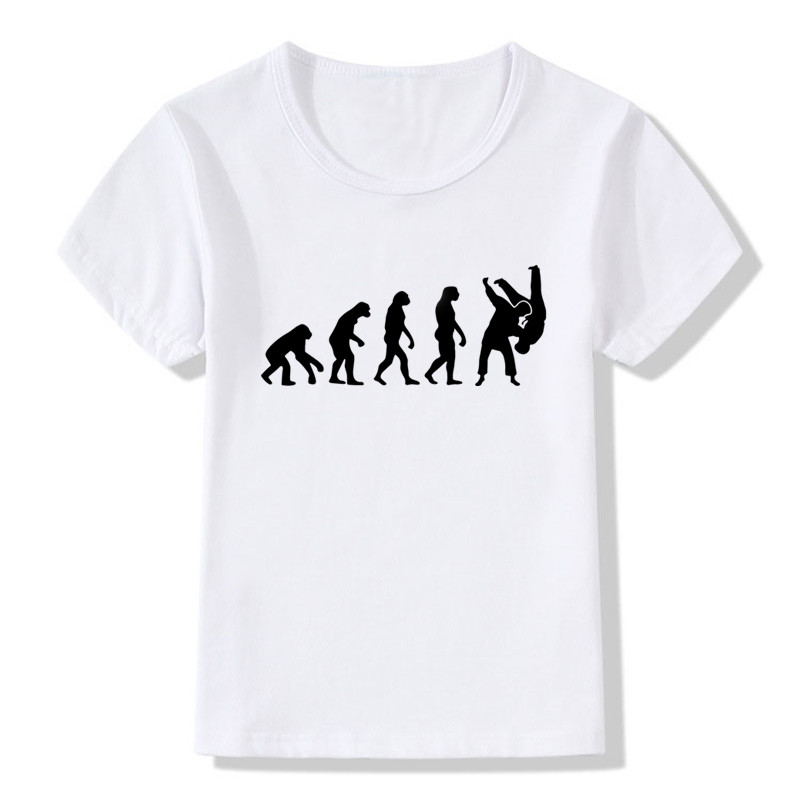 Boy-and-Girl-Evolution-Of-A-judo-T-shirts-Children-Judo-Top-Tee-Baby-T-shirt-2017-Summer-Soft-White-Tee-ShirtHKP402-1