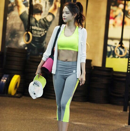 Women Backless Yoga Set Gym Fitness Suits Workout Clothes