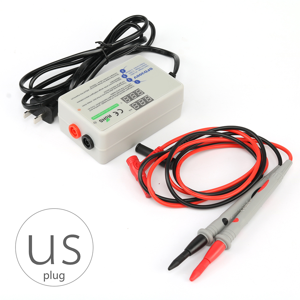 US Plug Rt300m Lamp Beads Light Bar LED Tester Ultra Bright Digital Backlight Smart Voltage Current Tester with Tester Pens