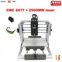 CNC 2417 2500mw Diy Cnc Engraving Machine 3axis Mini Pcb Pvc Milling Machine Metal Wood Carving