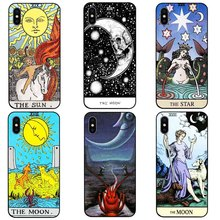 DK Moon Star Sun Tarot New phone case black soft cover for Samsung s8 s9plus S6 S7Edge S5 for iPhone 6s 7 8plus 5 X XS XR XSMax