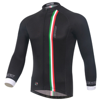 XINTOWN Cycling Jersey Winter Men Black Long Full Sleeves Quick Dry Road MTB Bike Bicycle Jersey
