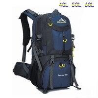 Уличный рюкзак 40л 50л 60л мужская женская спортивная сумка водонепроницаемый рюкзак для альпинизма походный рюкзак Сумка для кемпинга дорож...