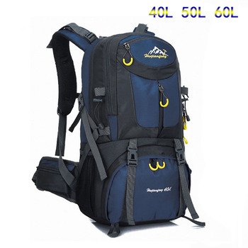 цена на Outdoor Backpack 40L 50L 60L Men Women Sport Bag Waterproof Mountain Climbing Rucksack Hiking Bagpacks Bag Camping Travel Bags