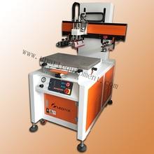 Economical electric flat slide table screen printing machine