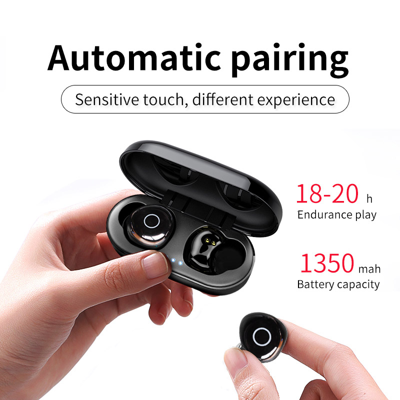 Image 2 - OVEVO Q65 TWS Bluetooth V5.0 Earphones HiFi Dual Wrieless 3D Stereo headset Waterproof Sports Earbuds For Xiaomi Phones With Mic-in Bluetooth Earphones & Headphones from Consumer Electronics