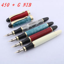 Caneta caligrafia inglês no corpo redondo mergulhado em ponta nib círculo jinhao 450 gravador script g nib fonte caneta suprimentos