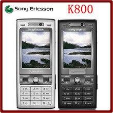 K800 разблокированный Sony Ericsson K800 3G GSM трехдиапазонная 3.15MP камера Bluetooth FM радио JAVA Восстановленный сотовый телефон