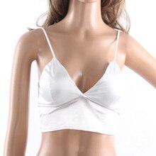 1PC Sexy Women Sleeveless Camisole Hipster Lingerie  Short Tank Tops Deep V Neck Black Crop Top Bralette Summer Hot