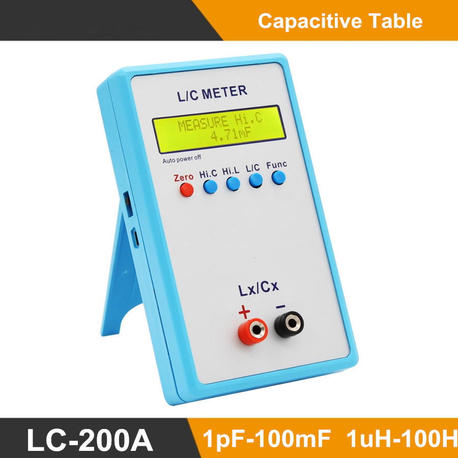 LC200A Handheld L/C Meter Inductance Capacitance Meter Tester