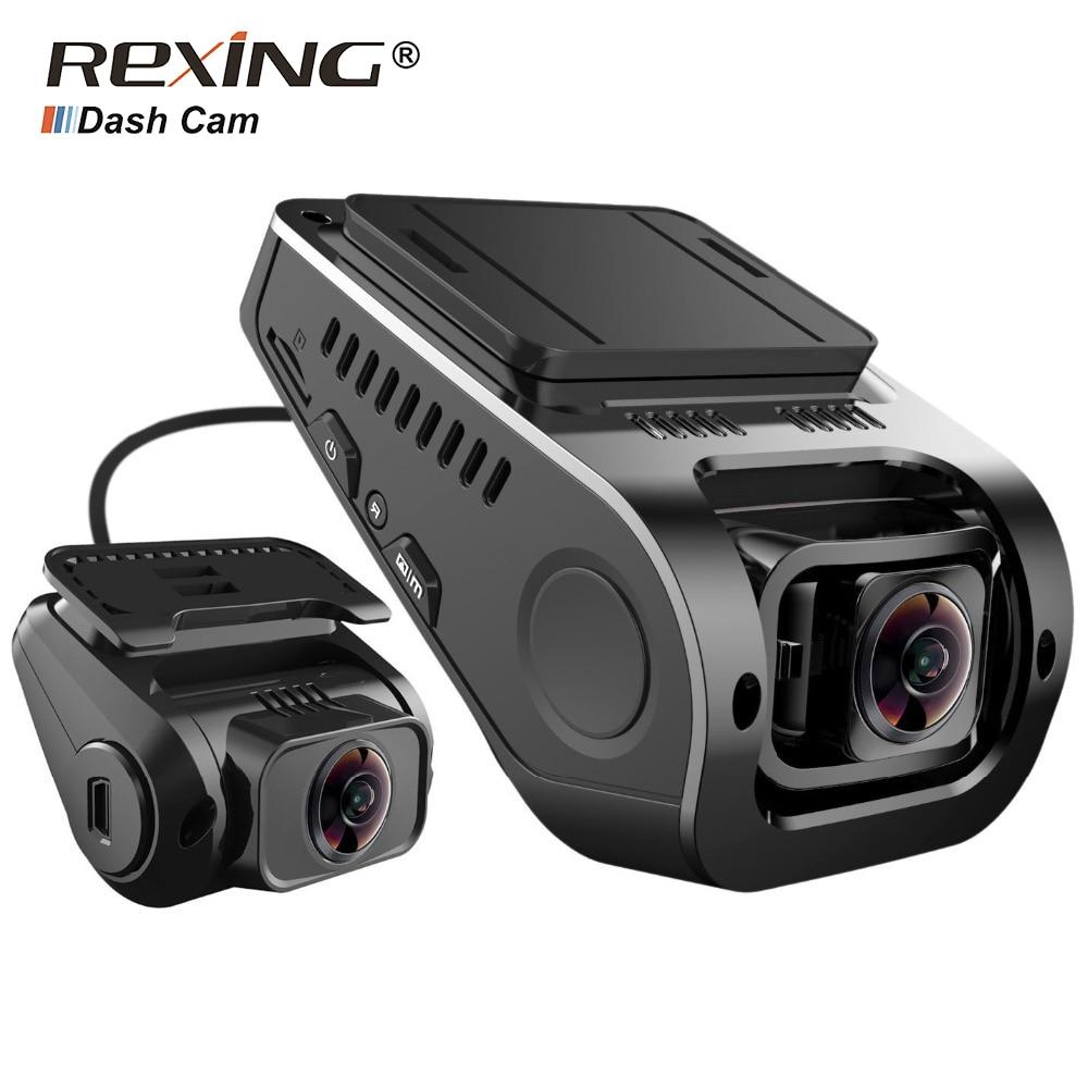 Rexing F8 Plus Автомобильный видеорегистратор камера заднего вида 1080 P спереди + 1080 P Сзади Двойной Камера