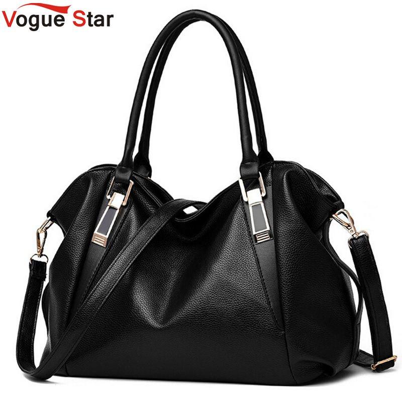 Vogue Star Women Handbags 2017 Women Messenger Bags PU Leather Handbag Brand Bag for Women Shoulder Bags Black LA84