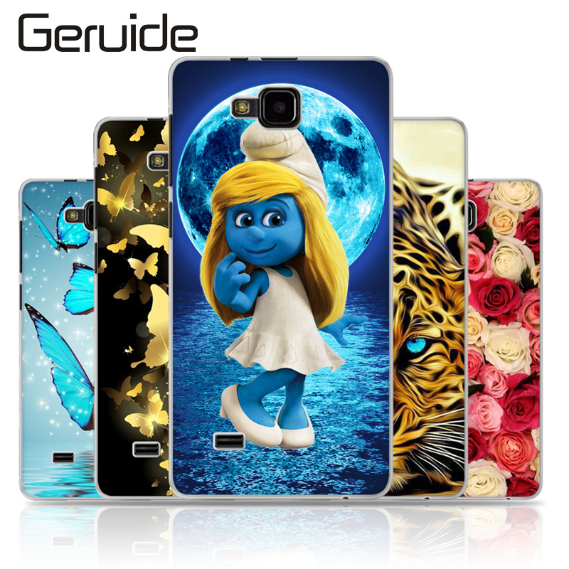 Geruide For ZTE Blade AF3/T221/A3/A5/A5 PRO Case Cover, Soft TPU Silicone Back Cover Case for ZTE T 221 4.0 inch Phone Case