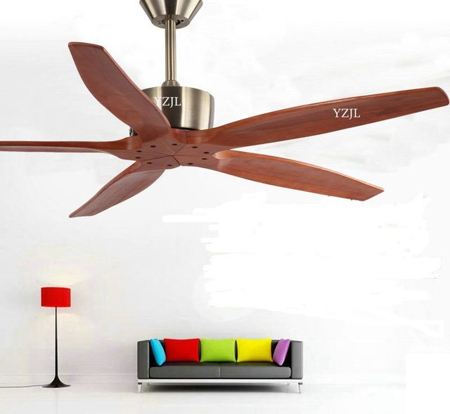 Nordic Simple Home Living Room Dining Ceiling Fan Lights No European Vintage Industrial
