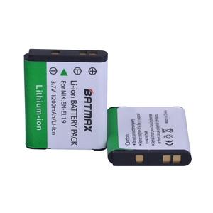 Image 3 - Batería EN EL19 EN EL19 + cargador LCD para Nikon Coolpix S32 S33 S100 S2500 S2750 S3100 S3200 S4200 S4400 S6400 S6500 S6600, 3 uds.
