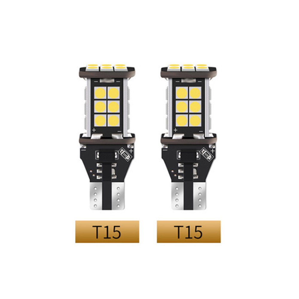 2Pcs LED Signal Lamps T15 T20 1156 Reverse lights 12V 45W Car Turn Signal Light 6000K white 3030 led DRL auto bulbs in Signal Lamp from Automobiles Motorcycles