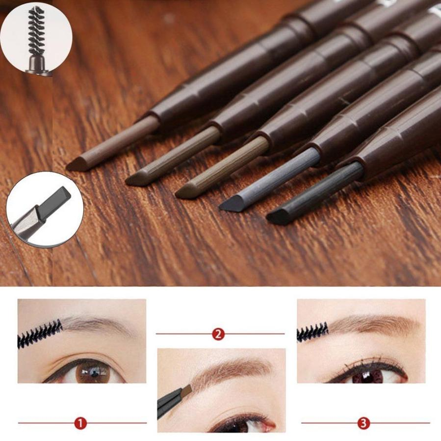Hot Best Deal Waterproof Eye Brow Eyebrow Pencils Brush Makeup