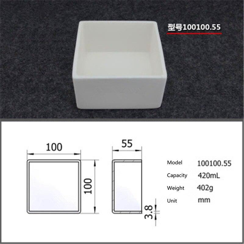 99.5% Square corundum crucible / 420ml 100100.55  / Temperature 1600 degrees / Sintered ceramic crucible99.5% Square corundum crucible / 420ml 100100.55  / Temperature 1600 degrees / Sintered ceramic crucible