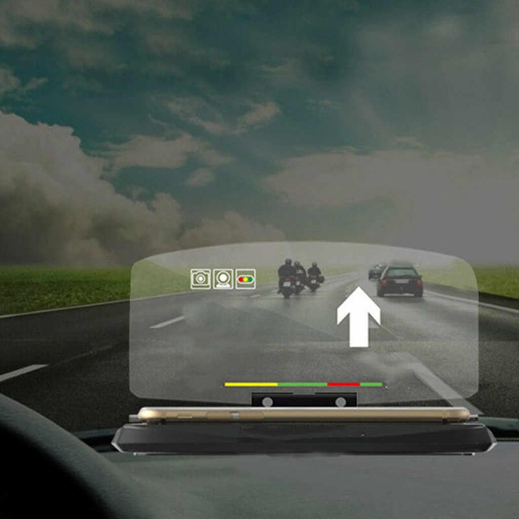 1 wyświetlacz HUD lustro uniwersalny samochód HUD Head Up wyświetlacz nawigacyjny uchwyt telefonu projektor GPS 16x10x1.8cm # WL1