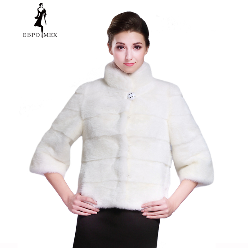 New Ladies fashion mink coats,lantern Sleeve,Mandarin Collar ...