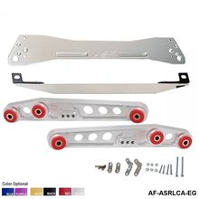 Subframe traseiro eg 92-95 para honda civic + braços de controle mais baixos lca eg + barra de laço inferior eg com etiqueta original EP-ASRLCA-EG