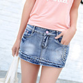 Women Jeans Limited Cotton Mid Plaid 2016 Summer New Korean Women's Jeans Wholesale Anti Pants Denim Shorts Female Taobao Agent