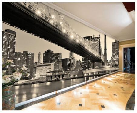 Buy mural new york city night scene 3d for New york 3d wallpaper
