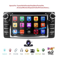 CAR MONITOR DVD Player For Toyota Universal RAV4 COROLLA VIOS HILUX Terios Land Cruiser 100 PRADO 4RUNNER DVR Bluetooth rear cam